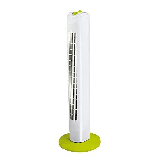 Ventilatore a colonna, colore: bianco/verde DOM347WV