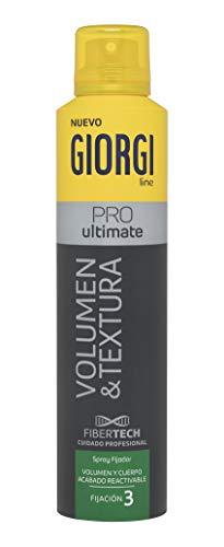 Giorgi Line - Spray Fijador Pro Ultimate Volumen y Textura, Volumen y Cuerpo Acabado Reactivable, Fijación 3 - 250 ml