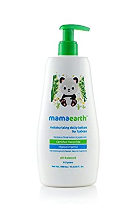 Mamaearth Moisturizing Baby Lotion with Shea Butter and Jojoba Oil for Babies & Kids, Made in the Himalayas- Hypoallergenic, Toxin-free, All Natural with Organic Ingredients ?