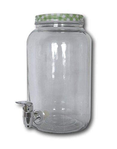 Urban Design Cristal dispensador de Bebidas Dispender con Grifo (3litros de Jugo dispensador dispensador con Tapa