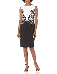 Black/Ivory Classic Neck in Black and White Short Dress