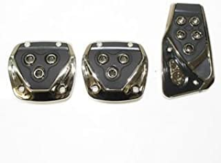 LAXON Non-Slip Racing Sport Manual Car Truck Pedals Kit (Black) - 3 Pieces