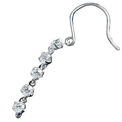 [アトラス] Atrus ピアス メンズ pt900 プラチナ 片耳 ダイヤモンド 揺れる ロングピアス フックピアス