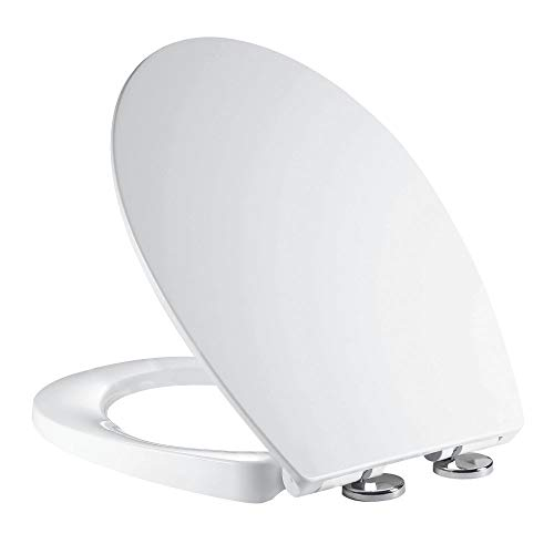 Soft Close Toilet Seat, Ergonomic Design with Quick Release...