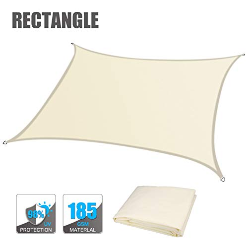 NAISI Rectangle Sun Shade Sail Canopy Awning for Patio Garden Outdoor, UV Block Canopy Awning, Enjoy Cool in The Outdoors (We Customize)