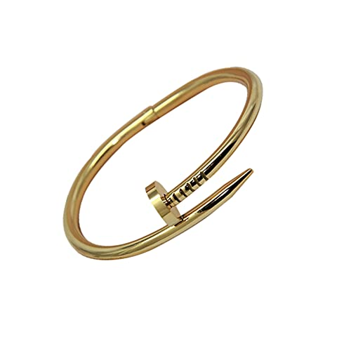 APPWLING Cuff Nail Bracelets & Bangles Stainless Steel Jewelry Brand Love Bangle Nail Screw Bracelet for Women and Man @Man_Black