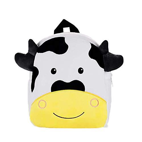 CAOLATOR Kindergartenrucksack Kinderrucksack Karikatur Kuh Kindergarten Rucksack Plüsch Mini Backpack Kinderrucksack Tasche Schultaschen für Mädchen Kinder Jungen