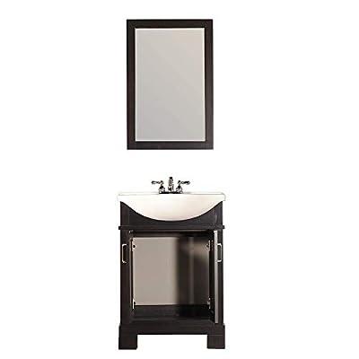 Kulu TR Series Espresso. 24 inch. Bathroom Vanity in Espresso, vanity for bathroom with sink