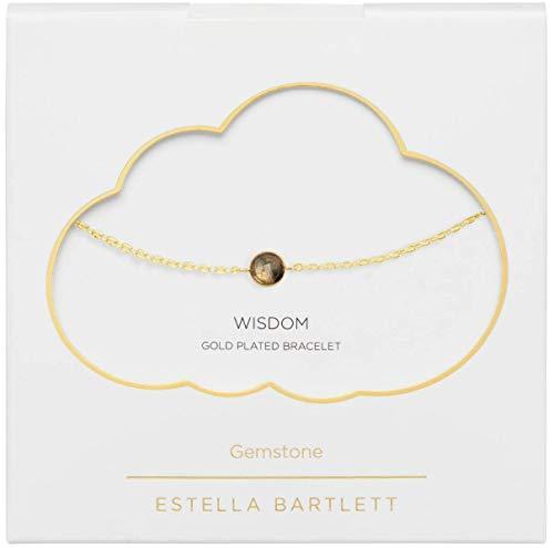 Estella Bartlett Gemstone Mini Gemstone Chain Bracelet - Gold Plated - Labradorite