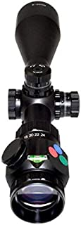 PRESMA 6-24X50 Hawk Rifle Scope with Red, Green, and Blue Illuminated RXR Mil-Dot Reticle