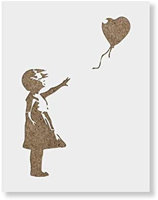 Girl with a Balloon Banksy Stencil for Walls and Crafts Reusable Banksy Stencils for Painting product image