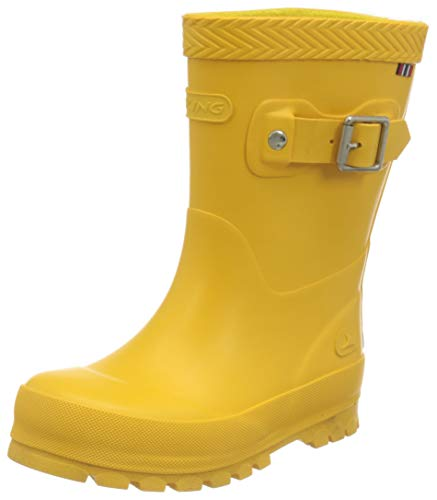 Viking Unisex-Kinder Jolly Buckle Gummistiefel, Yellow, 31 M EU