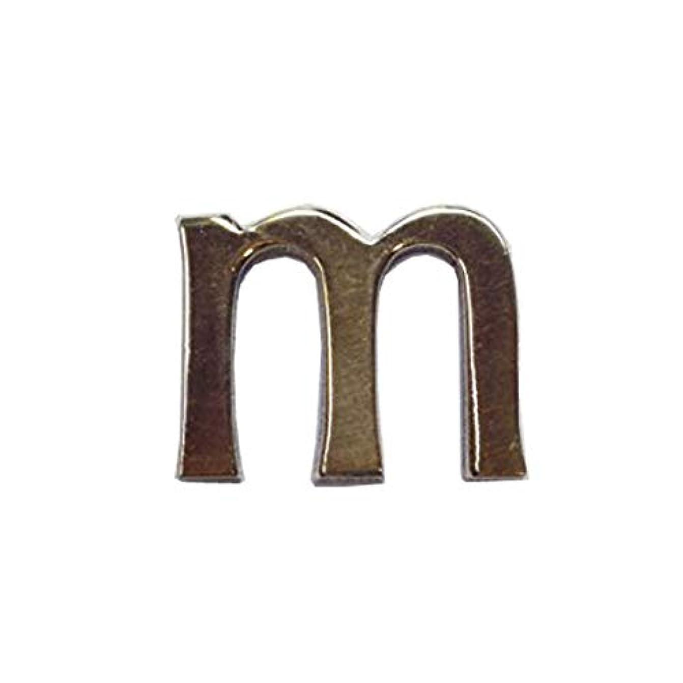 先住民革命エキス真鍮レターゴールド 45mm 小文字m