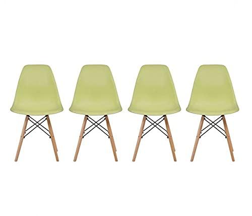 Gaia Set de 4 Sillas réplica Eames - Verde