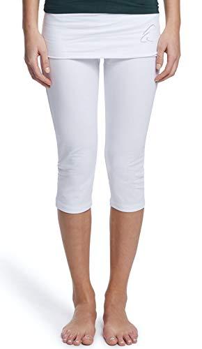 ESPARTO Capri Thanda - Pantalones de yoga pirata, Mujer, Blanco nieve., large