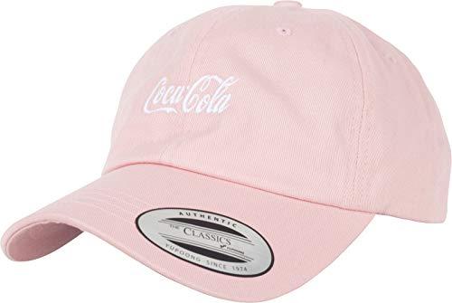 MERCHCODE Coca Cola Logo Dad Cap Gorra, Rosa, Talla única