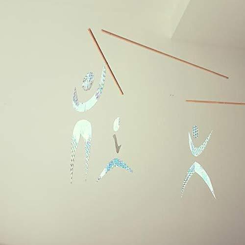 Mobile pour bébé Montessori en papier holographique