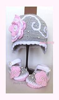 Conjunto para niña, sombrero e zapatos para bebe