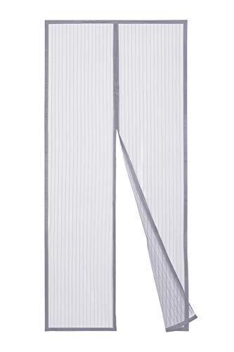 Sekey 210x90 cm Cortina Magnética de Puerta a Prueba de Mosquito para Puertas de Madera, Puertas de Hierro, Puertas Metálicas, Puertas del Balcón, Puertas de RV, Cierre Magnético Automático, gris