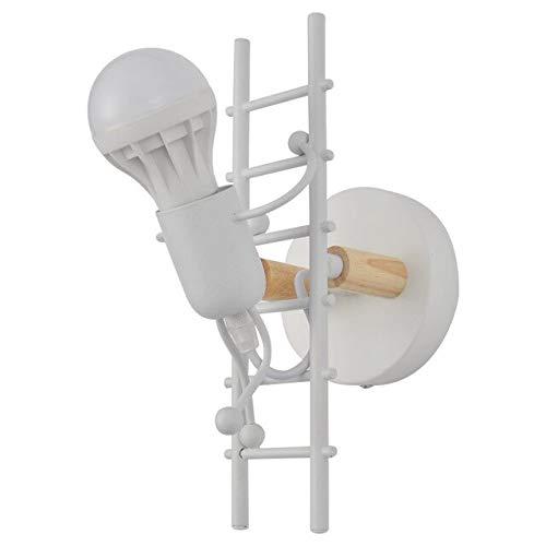 RAQ wandlamp slaapkamer creatieve persoonlijkheid lamp Little Man Climb Stair wandlamp gang gang kinderkamer bedlampje China wit