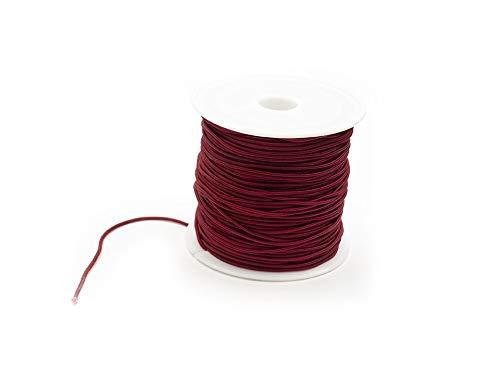 Creative-Beads rubberen band, 1 mm dik, rood, 20 m rolkralen oprijgen, elastische armbanden zelf maken knutselen naaien handwerk