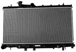 TYC 2703 Subaru Impreza 1-Row Plastic Aluminum Replacement Radiator