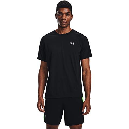 Under Armour Camiseta de Running para Hombre Streaker, Hombre, Camiseta, 1361469-001, Negro/Negro/Reflective (001), Medium