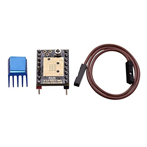 Fesjoy Stepper Motor Driver, TMC2208 V3.0 Stepper Motor Driver Stepstick with Heatsink Cable STEP/DIR and UART Mode 3D Printer Parts Compatible with SKR V1.3 V1.4 MKS GEN Ramps 1.4 Control Board