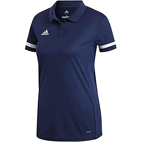 adidas T19 Polo W Polo Shirt, Mujer, Team Navy Blue/White, S