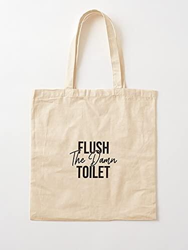 Plumber Pipe Idea Joke Funny Toilet Paper Humor   Bolsas de lona con asas de algodón duradero