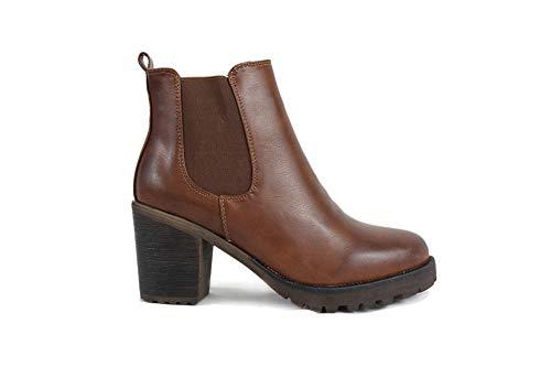 irisaa Chelsea Ankle Boots Damen Stiefeletten mit Absatz, Schuhgröße 36-41:39, Winterschuhe Farbe 2019:Camel