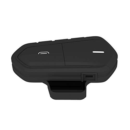 IPOTCH Casco de Motocicleta Bluetooth Intercom Riders B35 BT Interphone Headset FM
