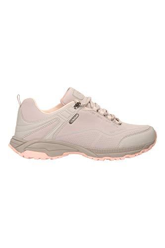 Mountain Warehouse Zapatillas Impermeables Collie para Mujer - Calzado liviano para Damas, Zapatos Transpirables, Zapatos Suaves para Caminar Beige Talla Zapatos Mujer 41 EU