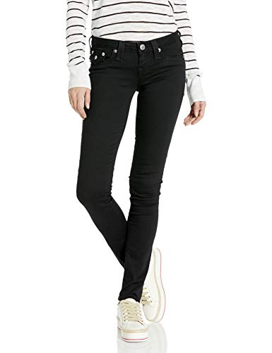 True Religion Women's Halle Low Rise Skinny Fit Jean with Back Flap Pockets, Body Rinse, 29