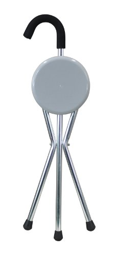Aidapt Seat Cane Caña con Asiento Plegable, Plateado (Silver/Grey), 850 x 280 x 60 mm, 0.78 kg