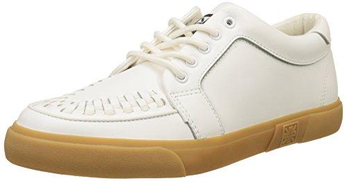 T.U.K. Unisex-Erwachsene VLK Creeper Sneaker WHT Gum Sole High-top, Weiß (White Leather White Leather), 44 EU