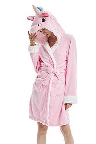 Woneart badjas/ochtendjas met capuchon robe nachtkleding dier kostuum pyjama cosplay