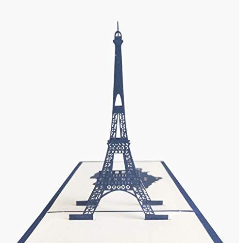 Handmade 3D Pop-up-Karte Französisch Paris Eiffelturm Geburtstag Valentinstag Hochzeitstag Vatertag Muttertag Urlaubseinladung