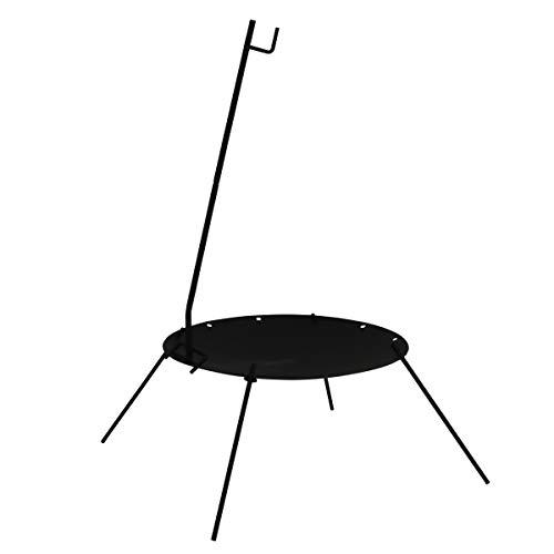 DOD(ディーオーディー) ビートルくん 焚き火台 【直径50cm】 焚き火ハンガー付き DD5-675-BK