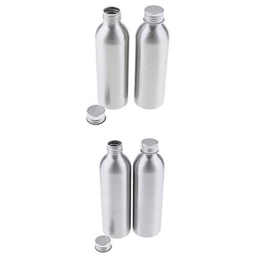 N/A/a 4 Unids Vaciar Botella de Aluminio Tóner Loción Maquillaje Cosméticos Contenedores de Almacenamiento