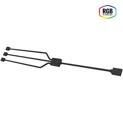 Cooler Master RGB 1-to-3 Cavo Splitter, 4 Pin e 5 Pin LED Connector, 58 cm