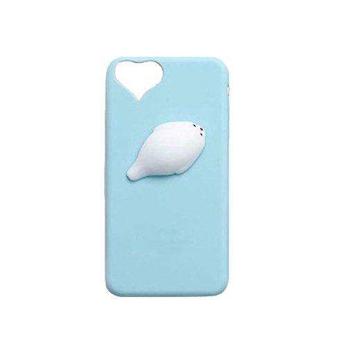 Miminuo 3D Seal Squishy Squish allevia lo stress iPhone case, impastatrice morbido silicone finger Pinch cute telefono cellulare copertura protettiva per iPhone6/6s/6plus/6SPlus/7/7PLUS