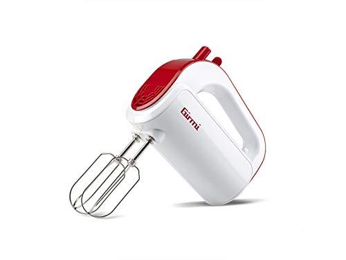 Girmi SB02 Sbattitore Elettrico, 170 W, Plastica, 5 velocità, Bianco/Rosso
