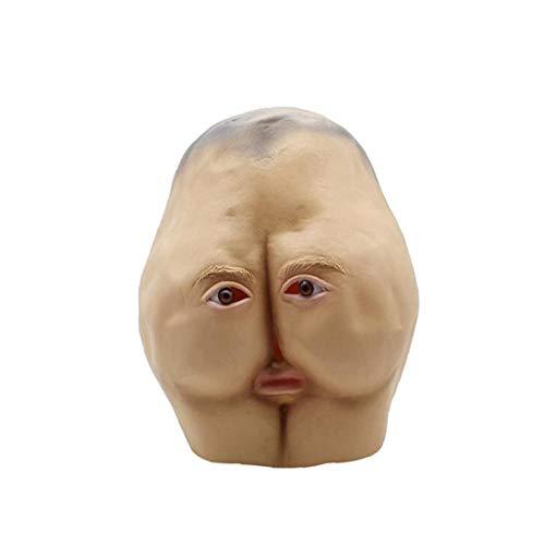 Schnuger Maske Halloween Erwachsene Lustige Vollgesichtsmaske Ass Styling-Maske Partei Props Latex Maske Tanz Horror Kopf Brötchen Partei-Abendkleid