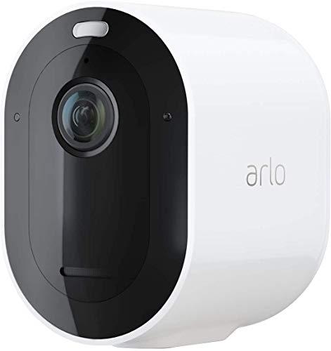 Arlo Pro3, Cámara vigilancia wifi 2K adicional, faro y sirena integrados, detector de movimiento, visión nocturna en color, audio bidireccional, 180 días de batería, funciona con Alexa, Blanco
