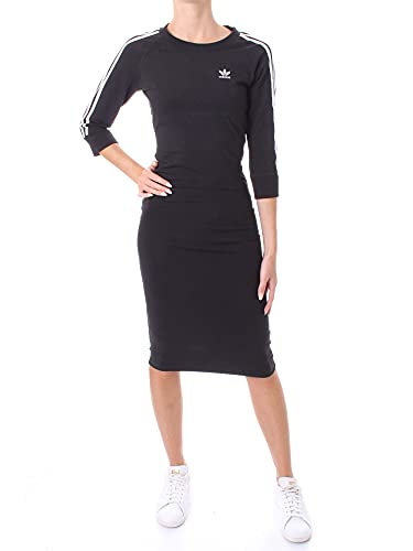 adidas 3 Stripes Dress T-Shirt, Black, 46 Women