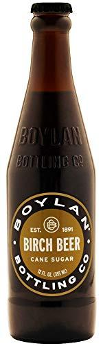 Boylan Bottling Co Birch Beer Soda, 12 Fl Oz (Pack of 24)