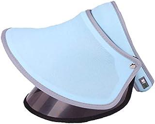 DUOLUO 夏の日焼け防止キャップダブルUV保護キャップ屋外の日焼け止め帽子の女性白い空のシルクハット