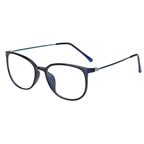 Haodasi Koreanisch Ultraleicht TR90 Kurzsichtigkeit Myopia Brille Kurzsicht Voll Rahmen Kurzsichtig Brille -1.0 -2.0 -3.0 -4.0 -5.0 -5.5 -6.0 Blau (Diese sind nicht Lesen Brille)