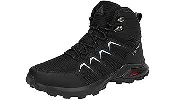 Mishansha Chaussures de Randonnée Homme Bottes de Marche Mountain Montantes Haut,Noir Charbon 43 EU